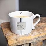 Mug gross home is coffee black/beige BC