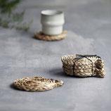 Untersetzer aus Seegras, 12cm Natur