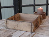 Holzkistli aus Altholz Quadratisch