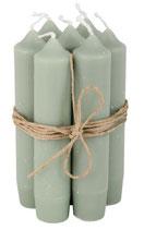 Kerzenbündeli staubig grün, 5 Stk. MR