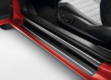 Volkswagen Original Einstiegsleistenfolie Schwarz/Silber