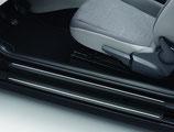 Schutzfolie für Einstiegsleiste Schwarz mit silbernen Streifen, 4-Türer