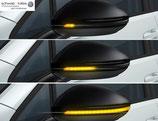 LED-Außenspiegelblinker animiert, dunkel getönt