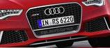 Kühlergrill RS6, Original Audi Frontgrill Alu Matt mit Quattro Emblem Titan