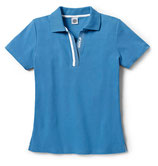 Polo-Shirt, Damen, Mittelblau XS