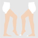 【SIGVARIS】 コットン  ストッキング 滑り止めつき (1箱2枚入り) 圧迫力1