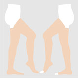 【SIGVARIS】 コットン ストッキング 滑り止めなし (1箱2枚入り) 圧迫力1