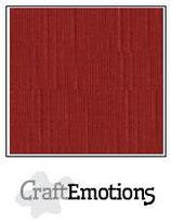 CraftEmotions linnenkarton 10 vel donkerrood 27x13,5cm 250gr / LHC-39