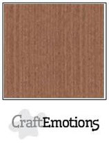 Craft emotions linnenkarton terra bruin 30,5x30,5