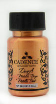 Cadence Dora Metallic Paint 121 brilliant gold