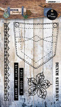 Studio Light Stamp A6 Denim Saturdays nr 326 STAMPDEN326