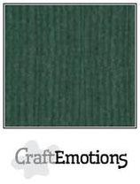 CraftEmotions linnenkarton 10 vel smaragdgroen 27x13,5cm 250gr / LHC-82