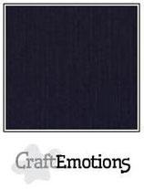 CraftEmotions linnenkarton 10 vel zwart 27x13,5cm 250gr / LHC-58