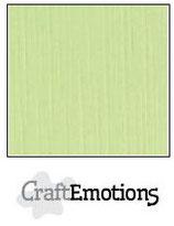 CraftEmotions linnenkarton 10 vel kiwi 27x13,5cm 250gr / LHC-21