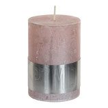 Kerze metallic pink - Höhe 10cm, Ø 7cm