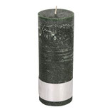 Kerze Rustic dark green- Höhe 18cm, Ø 7cm