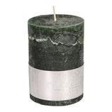 Kerze Rustic dark green- Höhe 10cm, Ø 7cm