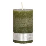 Kerze Rustic Olive Green - Höhe 10cm, Ø 7cm