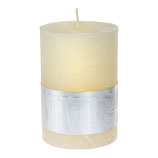 Kerze Rustic cream white- Höhe 10cm, Ø 7cm