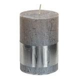 Kerze metallic taupe - Höhe 10cm, Ø 7cm