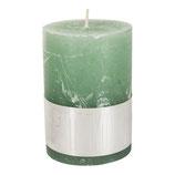 Kerze Rustic green - Höhe 8cm, Ø 5cm
