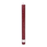 Kerze Rustic bordeaux - Höhe 25cm, Ø 2cm (4 Stück Set)