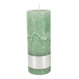 Kerze Rustic green - Höhe 18cm, Ø 7cm