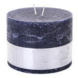 Kerze Rustic Night blue - Höhe 9cm, Ø 12cm