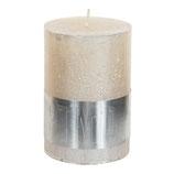Kerze metallic cream - Höhe 10cm, Ø 7cm