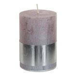 Kerze metallic soft pink - Höhe 10cm, Ø 7cm