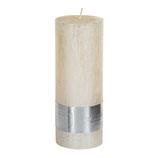 Kerze metallic cream - Höhe 18cm, Ø 7cm