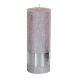 Kerze metallic soft pink - Höhe 18cm, Ø 7cm