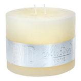 Kerze Rustic cream white- Höhe 9cm, Ø 12cm