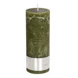Kerze Rustic Olive Green - Höhe 18cm, Ø 7cm