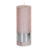 Kerze metallic pink - Höhe 18cm, Ø 7cm