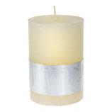 Kerze Rustic cream white- Höhe 8cm, Ø 5cm