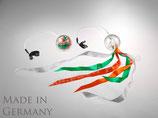 Training Pack-Poi transparent mit weiß-orange-grünem Schweif
