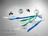 Training Pack-Poi transparent mit weiß-blau-grünem Schweif