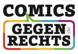 "Aufkleber ""Comics gegen Rechts"""