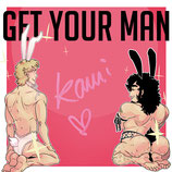 "Signierkarte ""Get Your Man"", Karte 1"