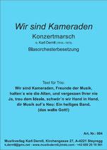 """""""WIR SIND KAMERADEN""""  von Karl Derntl"""