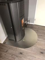 Vorlegeplatte aus gebürstetem Edelstahl für den Koppe Gravity