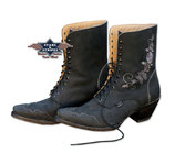 Stars & Stripes Rosie Black geschnürte Western Boots Stiefelette Stiefel