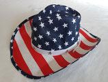 Cowboyhut USA mit Hutband,Kinnband,formbarer Krempe Strohhut Country