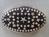 Sendra Boots Buckle Gürtelschnalle Sterne massiv Metall/Leder der Eyecatcher