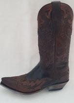 Sendra-9669-Boots-braun-antic-Barbados-Stiefel-Cowboystiefel