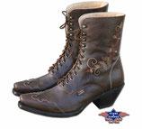 Stars & Stripes Rosie Brown geschnürte Western Boots Stiefelette Stiefel