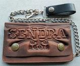 Sendra Boots Geldbörse Sendra Prägung braun Biker Wallet Leder Geldbeutel