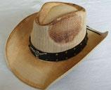 Cowboyhut mit Hutband, Kinnband und formbarer Krempe Westernhut Strohhut Country Western
