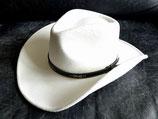 Cowboyhut Weiss mit Hutband und formbarer Krempe Westernhut Filzhut Country Western